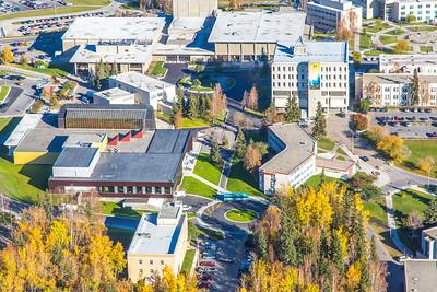 Aerial photo of the Fairbanks campus.  Filename: CAM-14-4311-301.jpg