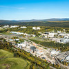 """An aerial view of UAF looking northwest at about 11:15 on Sept. 10, 2016, showing construction of the new combined heat and power plant being built adjacent to the existing unit which has been in use since the 1960s.  <div class=""""ss-paypal-button"""">Filename: CAM-16-4992-032.jpg</div><div class=""""ss-paypal-button-end""""></div>"""