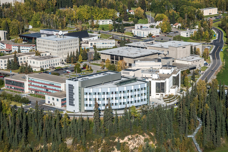 """An aerial view of UAF looking north at about 11:15 on Sept. 10, 2016.  <div class=""""ss-paypal-button"""">Filename: CAM-16-4992-035.jpg</div><div class=""""ss-paypal-button-end""""></div>"""