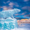 "An ice sculpture of the Nanook mascot greets visitors to campus from its home in the roundabout.  <div class=""ss-paypal-button"">Filename: CAM-13-3725-2.jpg</div><div class=""ss-paypal-button-end"" style=""""></div>"