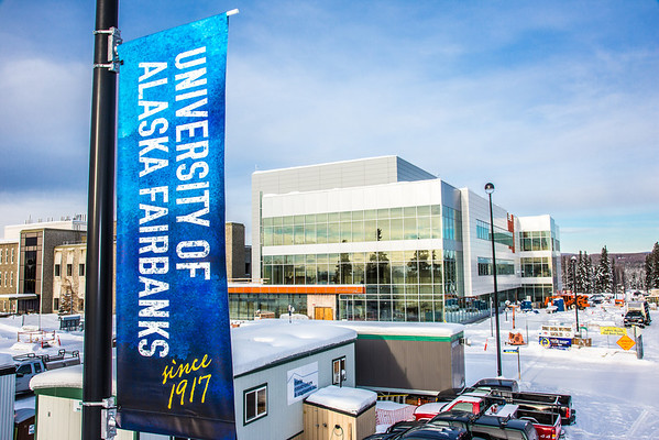 "New street banners help add color and a consistent branded message at various locations around the Fairbanks campus.  <div class=""ss-paypal-button"">Filename: CAM-13-3722-45.jpg</div><div class=""ss-paypal-button-end"" style=""""></div>"