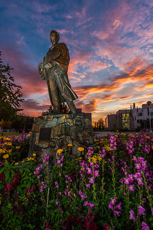A beautiful sunrise greets students and employees as they arrive on campus Friday, Sept. 13.  Filename: CAM-13-3941-18.jpg