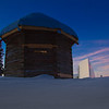 "The 19th century Russian blockhouse stands in stark contrast to the modern University of Alaska Museum of the North on the Fairbanks campus.  <div class=""ss-paypal-button"">Filename: CAM-12-3275-23.jpg</div><div class=""ss-paypal-button-end"" style=""""></div>"