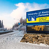 "The time and temperature sign on Alumni Drive welcomes motorists and pedestrians to campus on a cold December morning.  <div class=""ss-paypal-button"">Filename: CAM-12-3670-2.jpg</div><div class=""ss-paypal-button-end"" style=""""></div>"