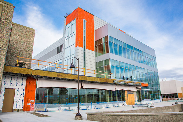 """The new Life Sciences building under construction on UAF's West Ridge.  <div class=""""ss-paypal-button"""">Filename: CAM-12-3569-09.jpg</div><div class=""""ss-paypal-button-end"""" style=""""""""></div>"""