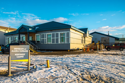 The Northwest Campus in Nome is one of five rural sites managed under UAF's College of Rural and Community Development.  Filename: CAM-16-4865-147.jpg