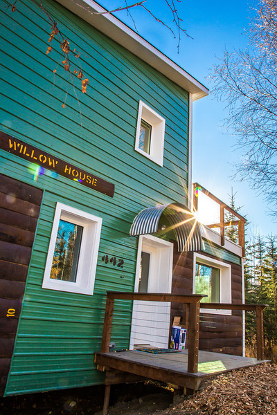 "The Sustainable Village is UAF's newest residence hall facility, offering select students an opportunity to live in experimental housing units to help determine if constuction techniques energy-saving technologies can be replicated on a larger scale to help Alaskans deal with high energy costs thoughout the state.  <div class=""ss-paypal-button"">Filename: CAM-12-3574-19.jpg</div><div class=""ss-paypal-button-end"" style=""""></div>"