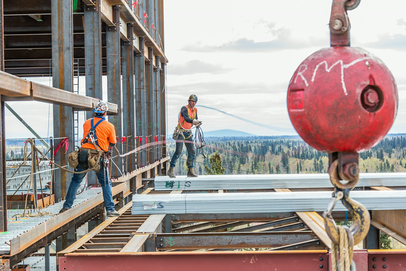 """Construction is underway in May, 2014 on UAF's new engineering facility.  <div class=""""ss-paypal-button"""">Filename: CAM-14-4177-132.jpg</div><div class=""""ss-paypal-button-end""""></div>"""