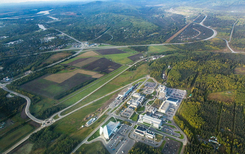"An aerial view of UAF's West Ridge taken Sept. 6, 2013.  <div class=""ss-paypal-button"">Filename: CAM-13-3929-16.jpg</div><div class=""ss-paypal-button-end""></div>"