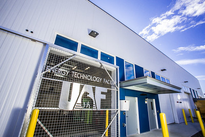 The Alaska Center for Energy and Power's Technology Facility is located near the Atkinson Building Power Plant on the Fairbanks campus.  Filename: CAM-12-3479-171.jpg