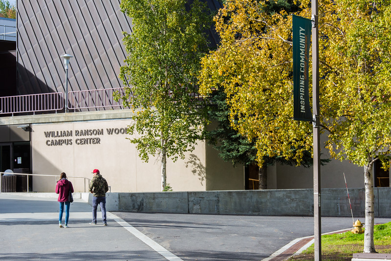 """Brightly colored fall foliage greets families and visitors to the Fairbanks campus at the start of the fall 2015 semester.  <div class=""""ss-paypal-button"""">Filename: CAM-15-4638-060.jpg</div><div class=""""ss-paypal-button-end""""></div>"""