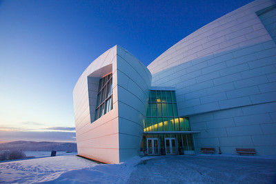 The University of Alaska Museum of the North is an architecural icon.  Filename: CAM-11-2960-01.jpg