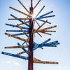 """The milepost sign in front of UAF's Gephysical Institute serves as a local landmark.  <div class=""""ss-paypal-button"""">Filename: CAM-12-3414-15.jpg</div><div class=""""ss-paypal-button-end"""" style=""""""""></div>"""