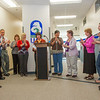 "Staff and faculty with the Allied Health programs at UAF's Community and Technical College share in applause during an official ribbon-cutting ceremony on the 4th floor of CTC's building in downtown Fairbanks.  <div class=""ss-paypal-button"">Filename: CAM-12-3507-12.jpg</div><div class=""ss-paypal-button-end"" style=""""></div>"