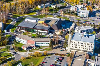 Aerial photo of the Fairbanks campus.  Filename: CAM-14-4311-257.jpg