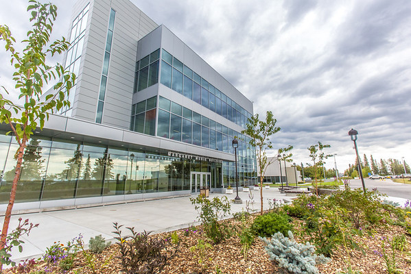 """The newly opened Margaret Murie Building on UAF's West Ridge is home to the Department of Biology and Wildlife.  <div class=""""ss-paypal-button"""">Filename: CAM-13-3928-180.jpg</div><div class=""""ss-paypal-button-end"""" style=""""""""></div>"""