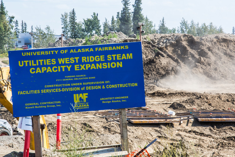"""The UAF's Fairbanks campus underwent a major construction project during the summer of 2012 with expansion of a utilidor to accommodate new buildings on West Ridge.  <div class=""""ss-paypal-button"""">Filename: CAM-12-3495-6.jpg</div><div class=""""ss-paypal-button-end"""" style=""""""""></div>"""