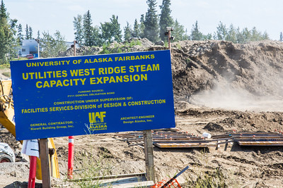 The UAF's Fairbanks campus underwent a major construction project during the summer of 2012 with expansion of a utilidor to accommodate new buildings on West Ridge.  Filename: CAM-12-3495-6.jpg