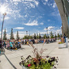 """A big crowd turned out for the official ceremony dedicating the Margaret Murie Building on UAF's West Ridge.  <div class=""""ss-paypal-button"""">Filename: CAM-13-3912-030.jpg</div><div class=""""ss-paypal-button-end"""" style=""""""""></div>"""