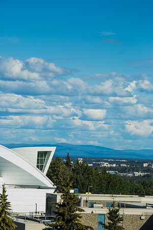A view of the city of Fairbanks from campus during a summer evening.  Filename: CAM-16-4949-15.jpg