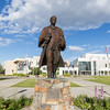 "The statue of Charles Bunnell is a prominent landmark on the Fairbanks campus.  <div class=""ss-paypal-button"">Filename: CAM-16-4929-11.jpg</div><div class=""ss-paypal-button-end""></div>"