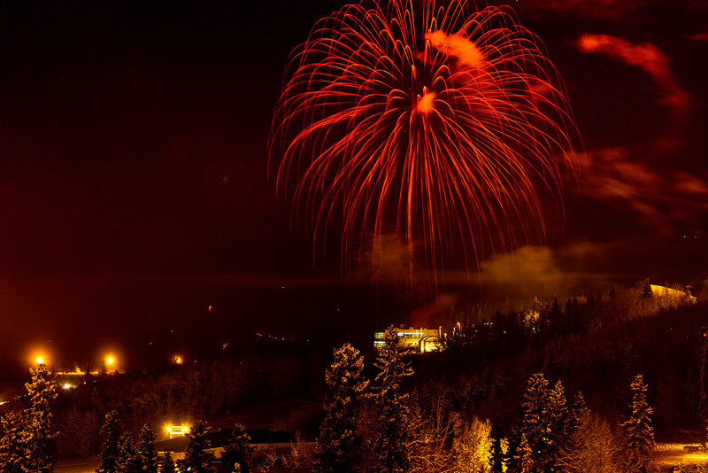 "Fireworks light up the sky above UAF's West Ridge during the annual New Year's Eve Sparktacular. The event is organized by Mike Thomas, owner of University Chevron, and is sponsored by a group of Fairbanks community groups and businesses listed at this link: http://www.uafnews.com/headlines/community-invited-to-sparktacular-celebration.  <div class=""ss-paypal-button"">Filename: CAM-11-3251-36.jpg</div><div class=""ss-paypal-button-end"" style=""""></div>"