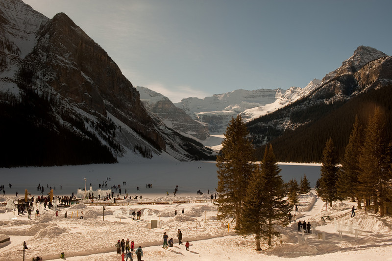 Another view of Frozen Lake Louise.
