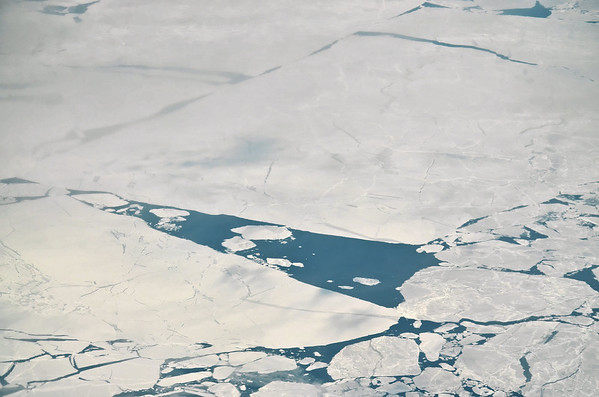 Baffin Bay, spring sea ice melting