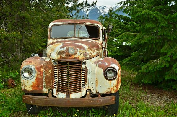 Cars at Donalds farm, Golden, BC