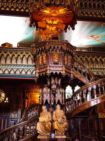 Spiral Staircase in the Notre-Dame Basilica of Montreal