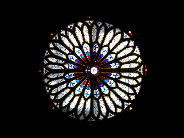 Looking Up in the Notre-Dame Basilica of Montreal