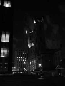 Basilique Notre-Dame de Montréal at Night