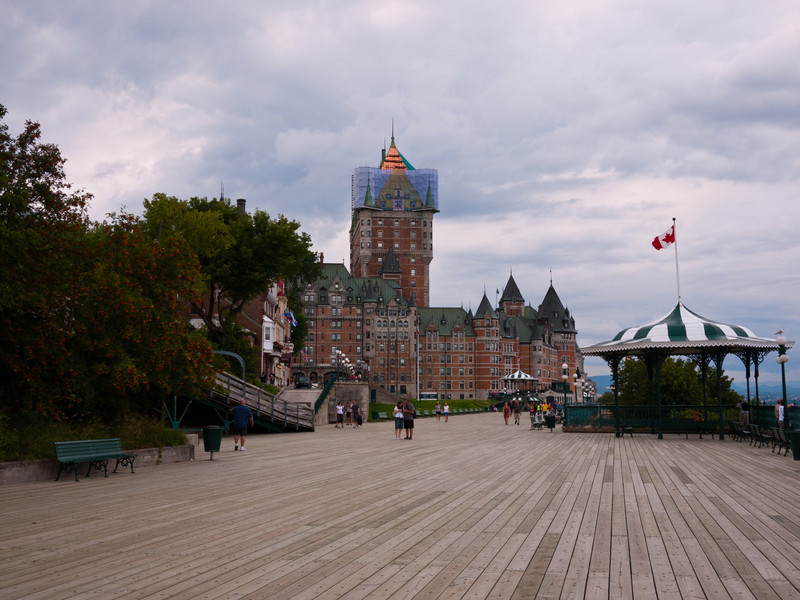 Le Château Frontenac from the Terrasse Dufferin