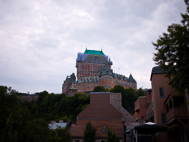 Le Château Frontenac from Below