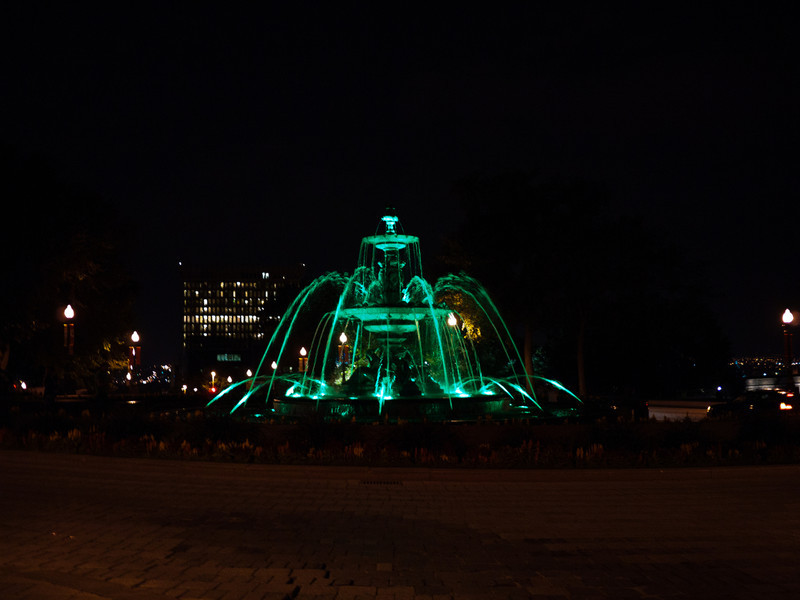 Green Fountain near the Parliament Building