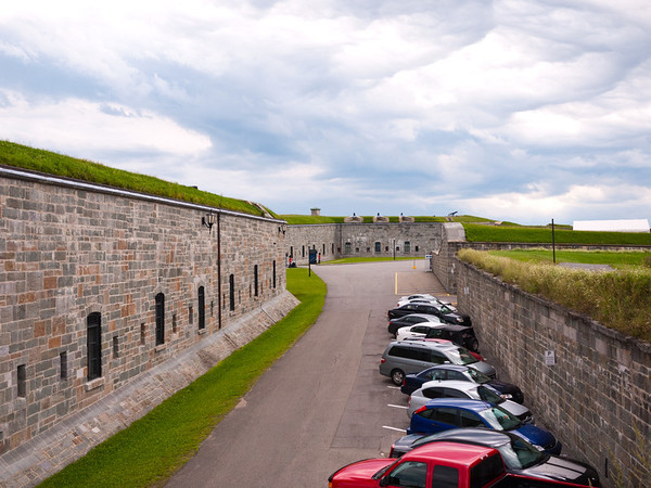 The area between the walls of the Citadelle de Québec is now for parking.