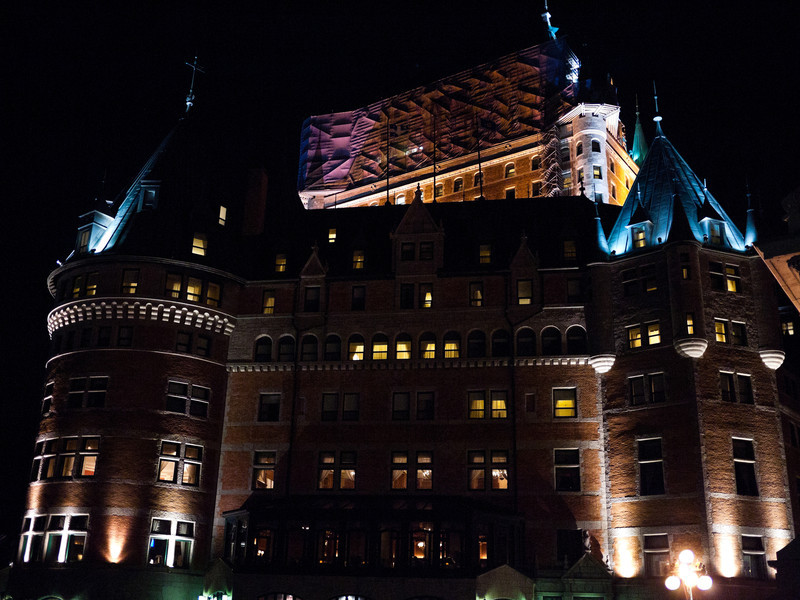 Le Château Frontenac at Night