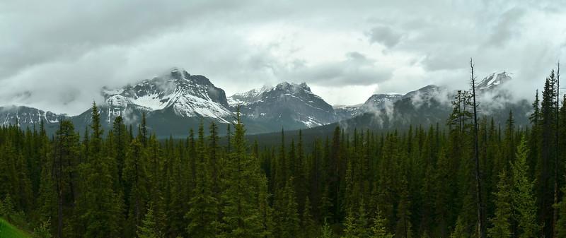 Waputik Moutains from Bow Pass, Banff NP, Alberta, Canada