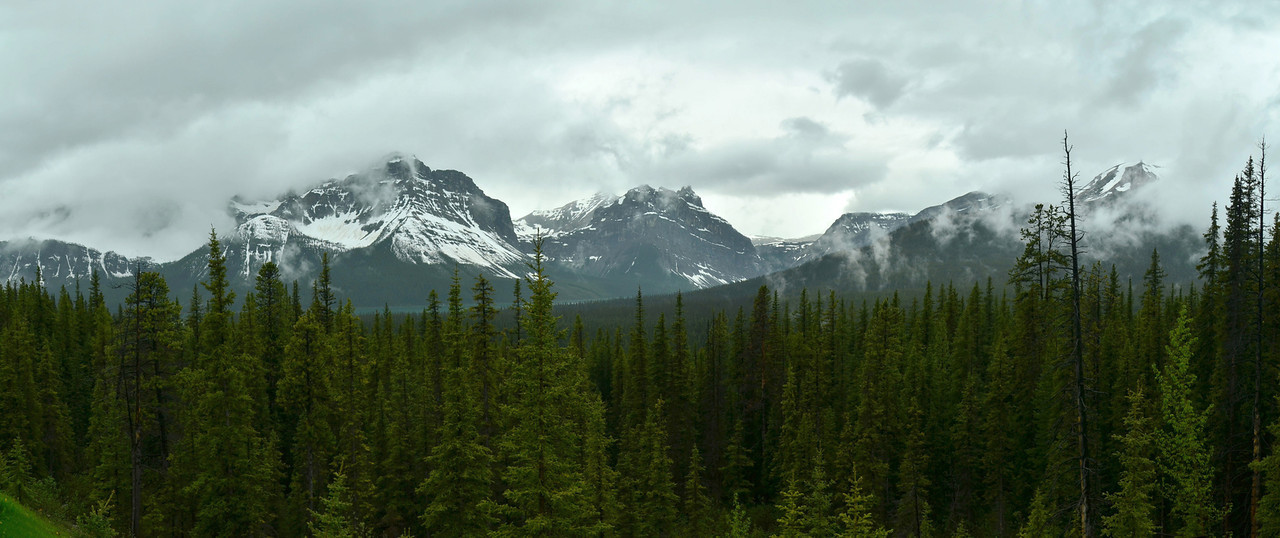 Waputik Moutains from Bow Pass, Banff NP, Alberta, Canada