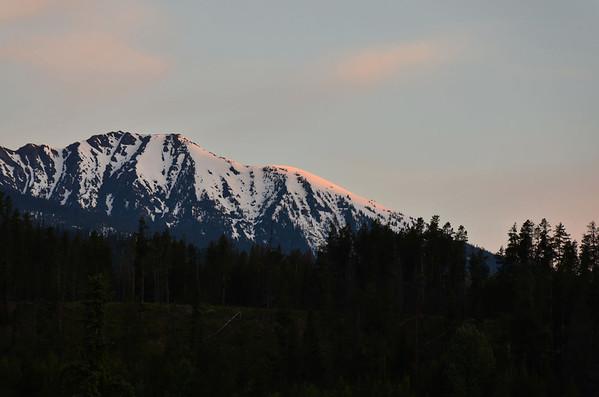 Morning sun, Sushwap Range, British Columbia, Canada