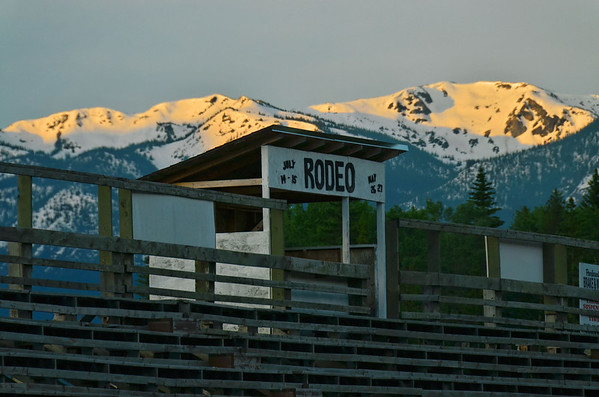 Rodeo arena, Valemount, BC, Canada