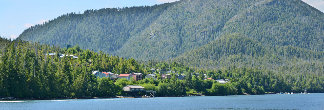 First Nations Village, Hot Springs Cove, Clayoquot Sound, Vancouver Island;