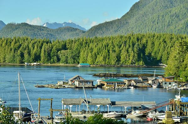 House boats, Tofino, Vancouver Island;