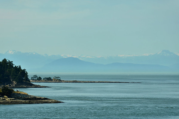 Overlooking Salish Sea sound from Vancouver Island