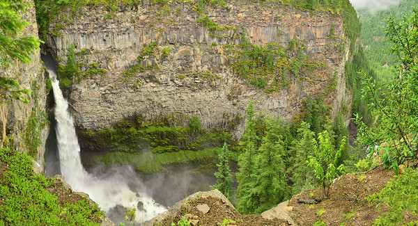 Spahat Falls, 61m high, Wells Gray NP, BC, Canada