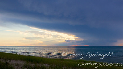 Storm Forming up over Lake Huron.