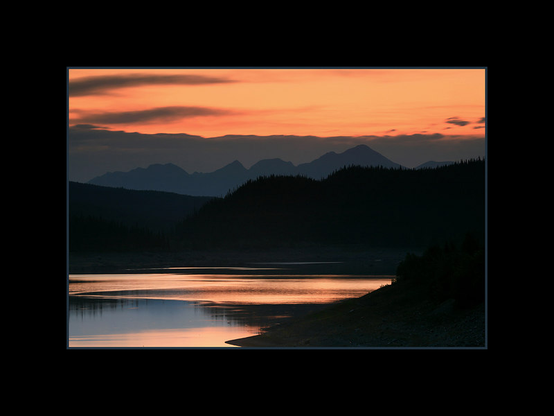 Medicine Lake at Sunset, Jasper National Park