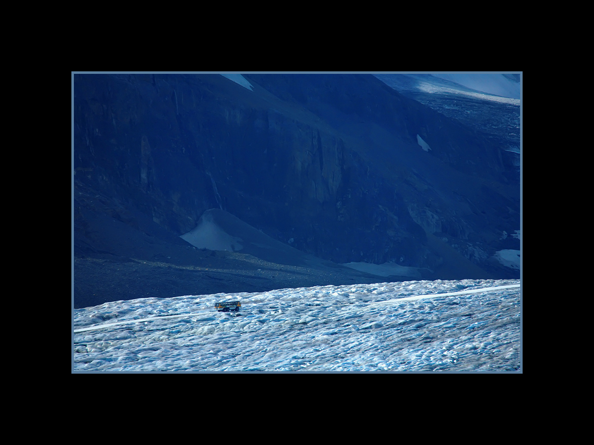 Snowcoach on Athabasca Glacier, Columbia Icefield, Banff National Park