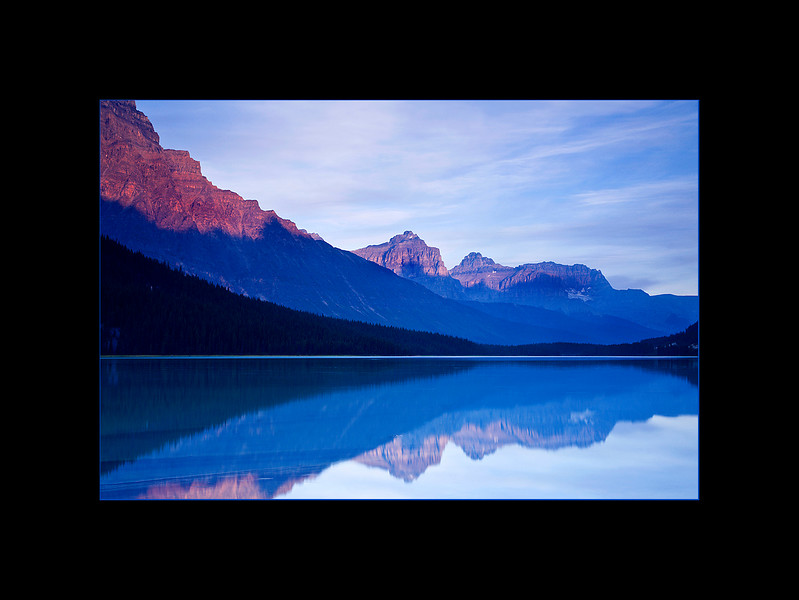 Lower Waterfowl Lake at Sunrise, Banff National Park, Alberta, Canada