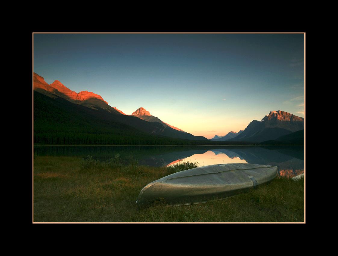 Sunset over Upper Waterfowl Lake, Banff National Park